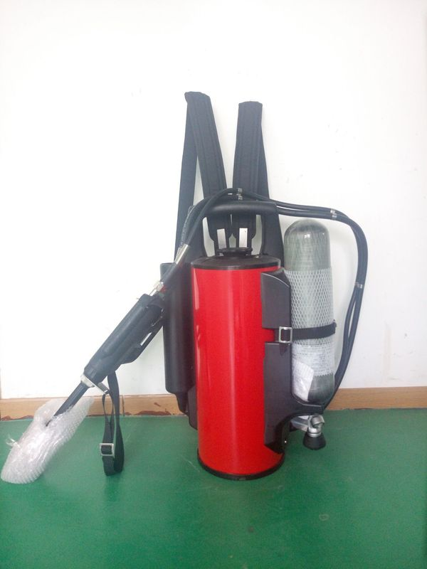 Reliable Backpack Water Mist Fire Extinguisher Advanced Aerodynamics Technology